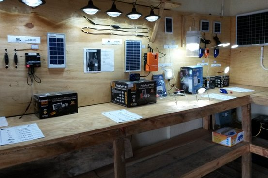 Our solar lighting product display